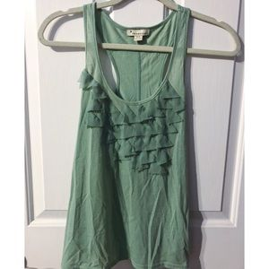 Forever 21 Frayed Triangle Racerback Tank